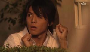 "Juta trips, makes a noise, Asuka opens the window, Juta clutches his fists and goes, ""Nyyyya"" and Asuka goes, ""...Cat, huh."" ...Juta's face = PRICELESS (Asuka, you major fail you dork)"