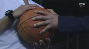 "In a symbolic move, Coach Kanzaki suddenly walks over to Naoki, and presses the ball into his hands, saying, ""But I'll wait to see how strong you've grown. Show how much Riko's love has changed you, on the basketball court."" Naoki: ""Yes.""  As Coach Kanzaki walks away, he holds up the small white box (with his proposal ring in it) and lets out another wry smile as he waves goodbye to Naoki. Naoki in turn, immediately says, ""Thank you very much."" and bows yet again."