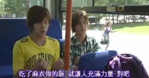 The two boys get on a bus and are happily yammering away, whilst poor Riko chases the bus and yells out Naoki's name.